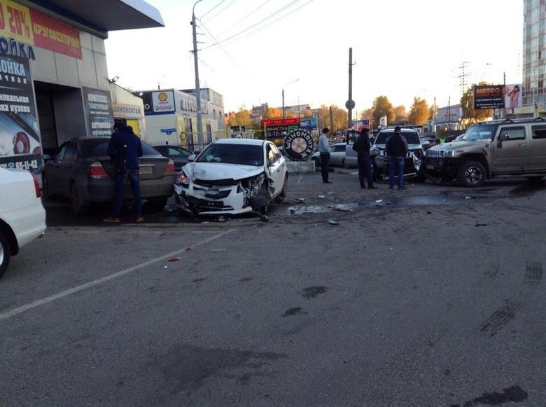 На В Томске на ул.Говорова произошло ДТП с участием шести автомобилей