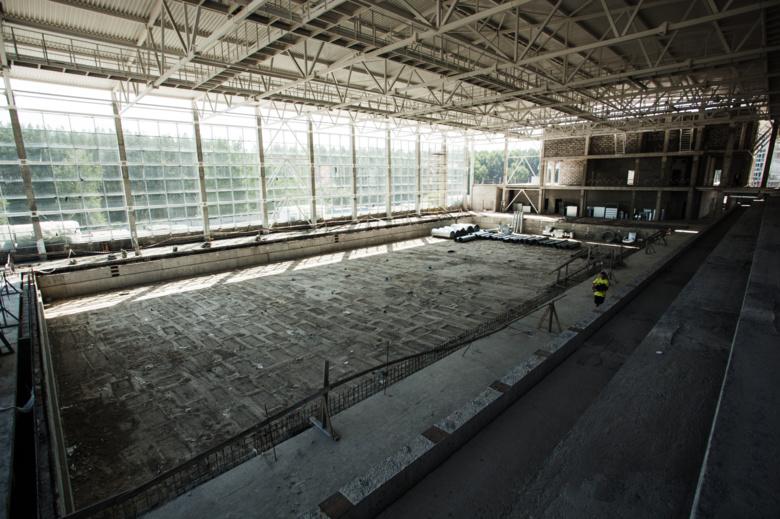 Олимпийский бассейн в Зеленых горках сдадут к новому году