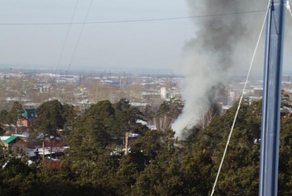 На улице Баргузинской в Томске горел частный жилой дом