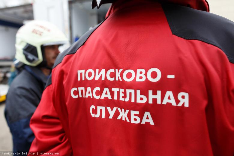 Mitsubishi с водителем утонул в деревне Лязгино в Томском районе