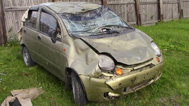 Daewoo Matiz перевернулся на трассе в Томской области, погиб пассажир