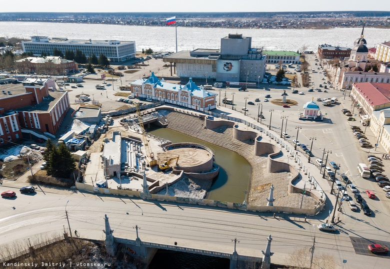 Реконструкция первого участка «Томских набережных» завершится летом 2019г