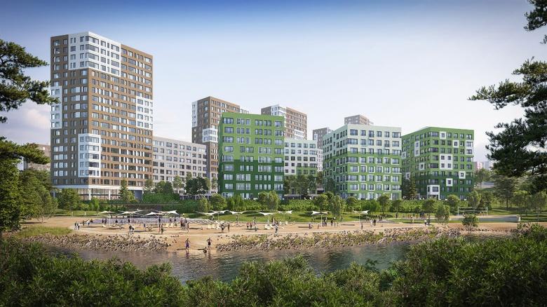 Пляж на Ушайке и дома в 22 этажа: голландцы представили проект нового микрорайона Томска