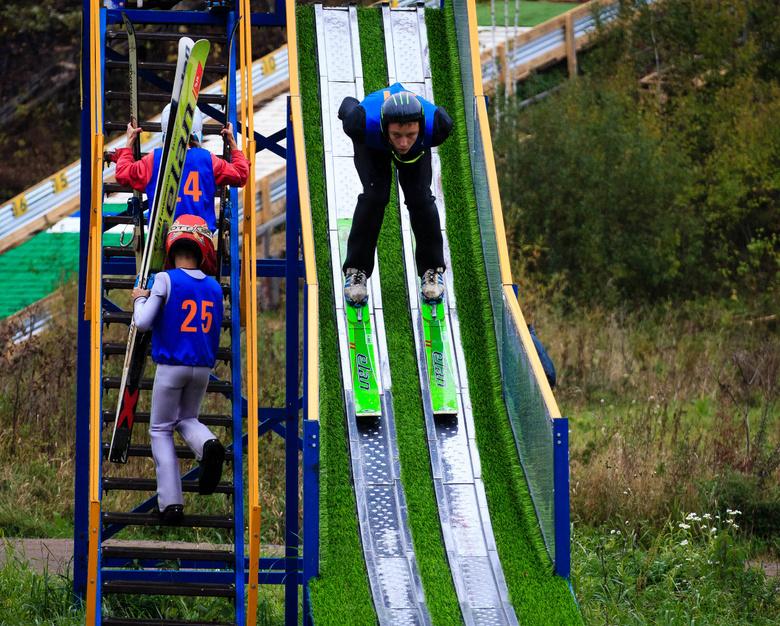 В Томске открылся круглогодичный комплекс детских трамплинов (фото)