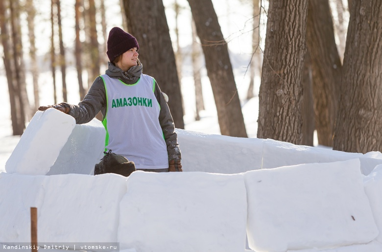Домики для эскимосов: как томичи в Лагерном саду иглу строили