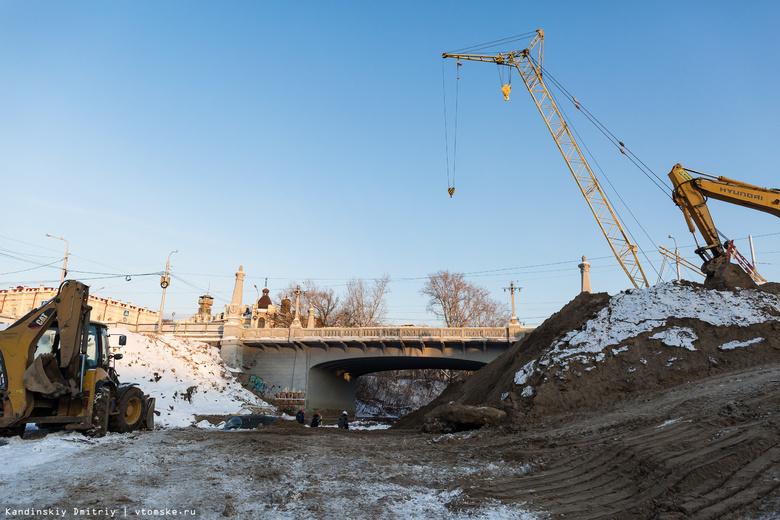Реконструкция первого участка набережной Ушайки в Томске завершится осенью 2018г
