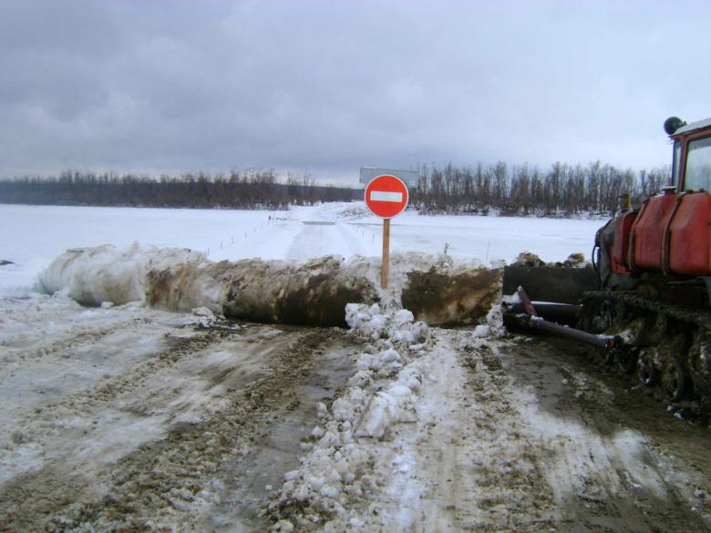 Шесть ледовых переправ закрыто вобласти засутки