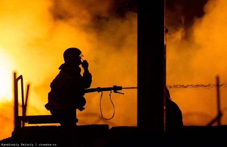 Около 4 часов тушили пожарные цех по производству шпона в Семилужках