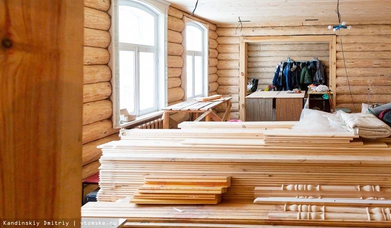 Дефицит древесины для строительства домов отмечен в России