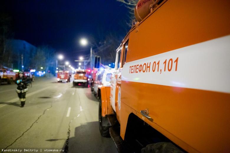 Прачечная сгорела ночью в Томской области