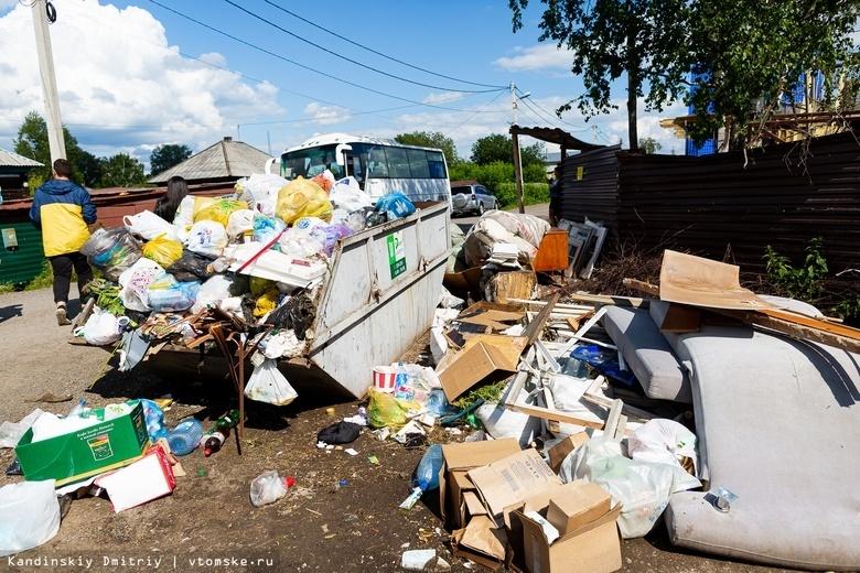 Дума: томичи по-прежнему жалуются на заваленные мусором контейнерные площадки