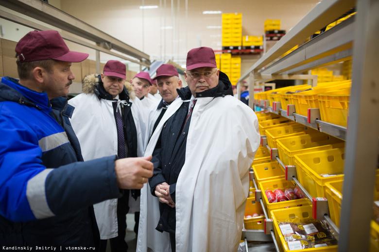 Губернатор открыл логистический центр томской «Межениновки» за 180 млн