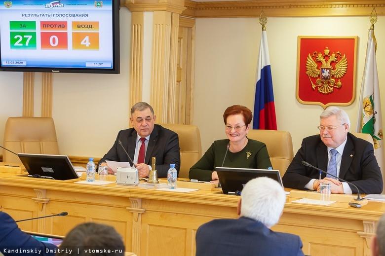 Дума Томской области согласовала поправки в Конституцию РФ