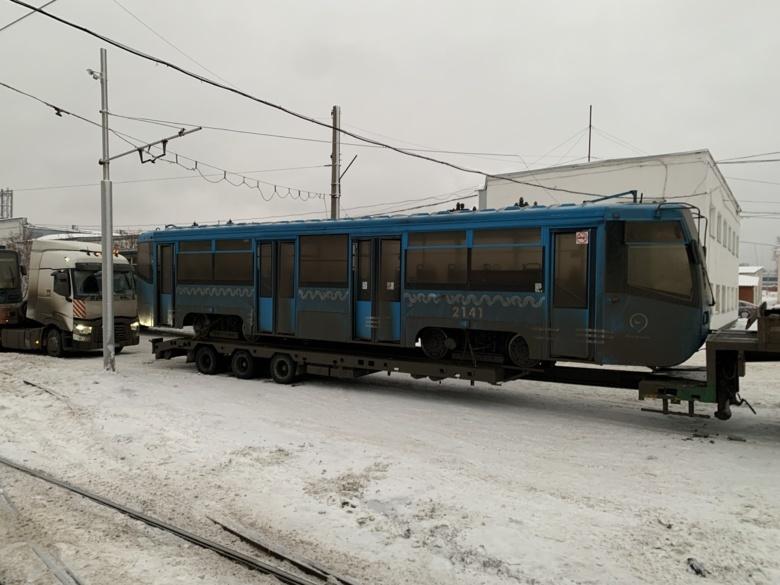 Томское ТТУ получило первые 5 трамваев из Москвы