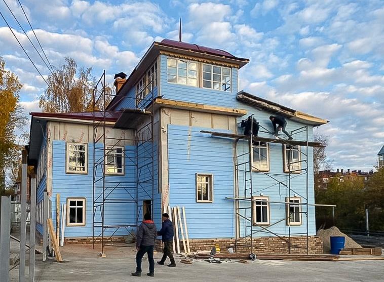 Восстановление старинного дома на Октябрьской завершится в ноябре