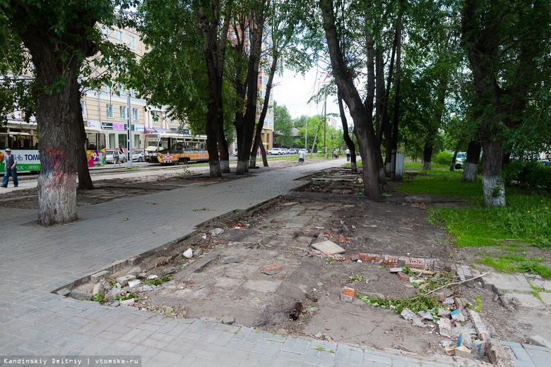 Цветочные ларьки на Дзержинского в Томске демонтировали
