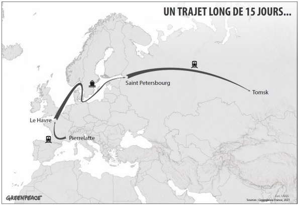 Greenpeace: свыше тысячи тонн радиоактивных отходов перевезут из Франции в Северск