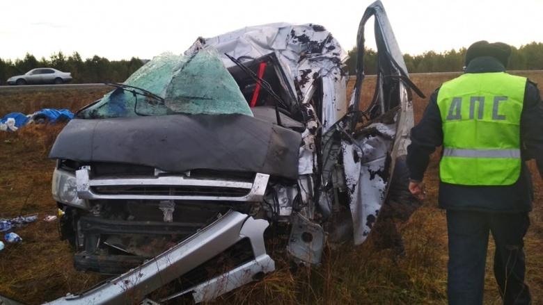 Следовавший из Томска микроавтобус съехал в кювет, пострадали 8 человек