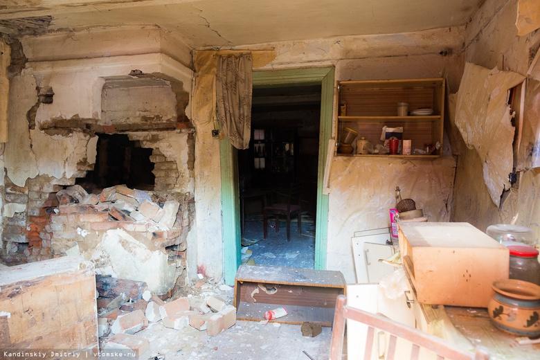 Томский СКР: обрушение в доме на Свердлова спровоцировал разбиравший печь жилец