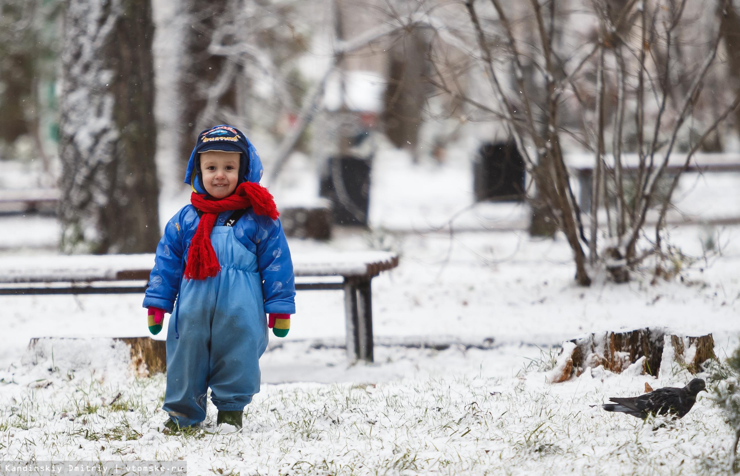 Зима близко: первый снег встретили в Томске