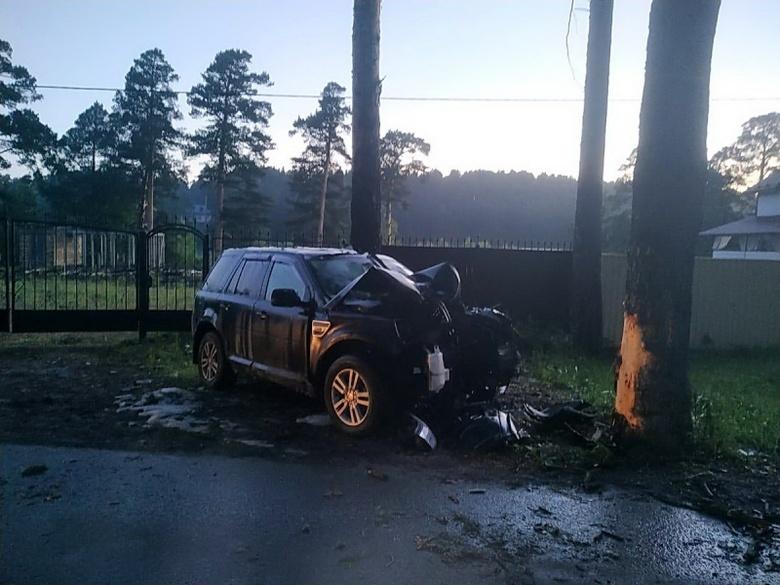Водитель иномарки попал в больницу после столкновения с деревом