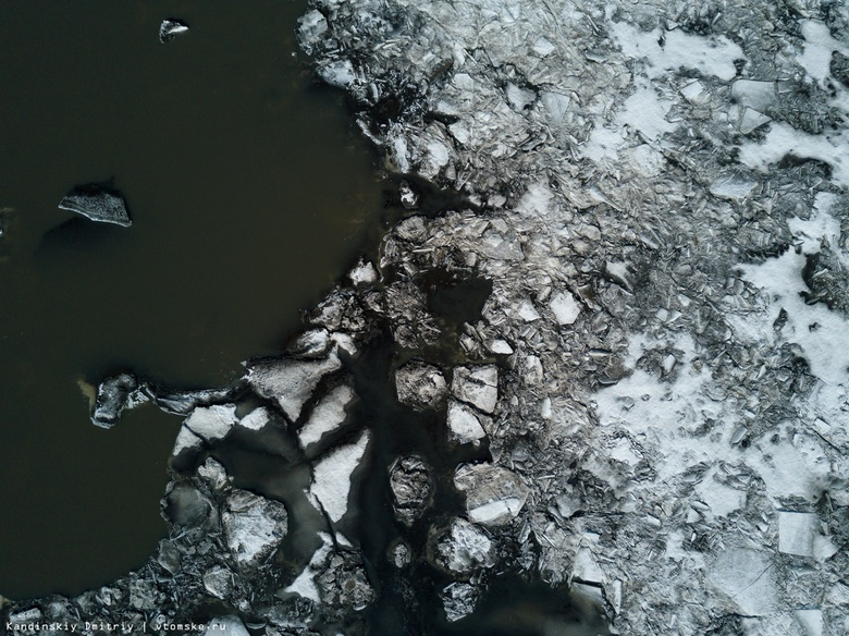 Обь вскрылась за сутки на 61 км. Голова ледохода покинула Томскую область