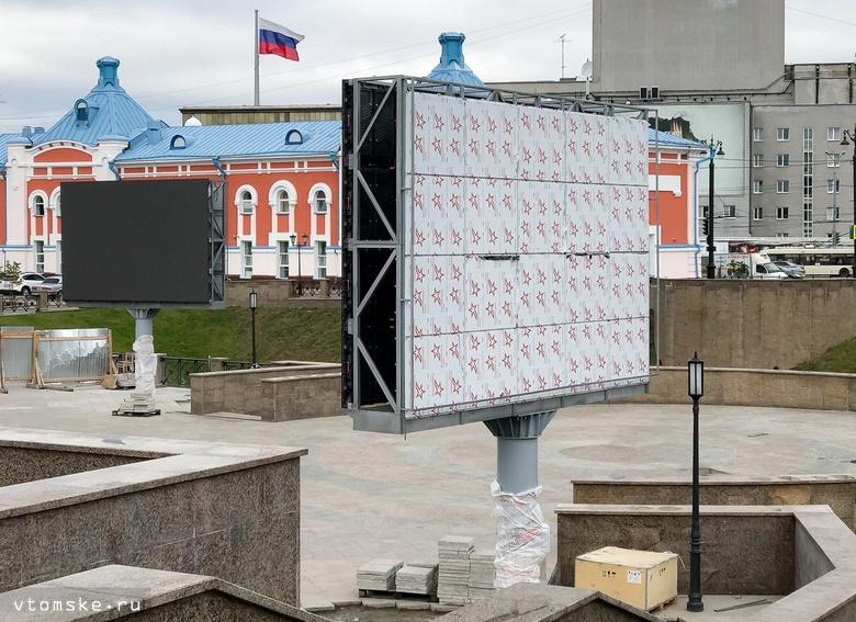 Большой светодиодный экран на набережной Ушайки заработает лишь в сентябре