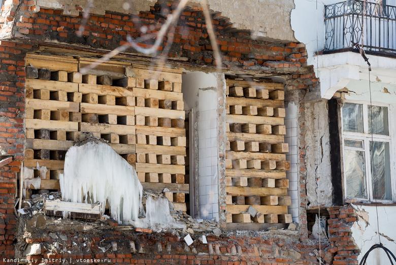 Стена обрушилась в нежилой части общежития ТГУ
