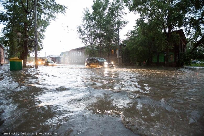 Надувайте лодки: в Томске после ливня затопило улицы