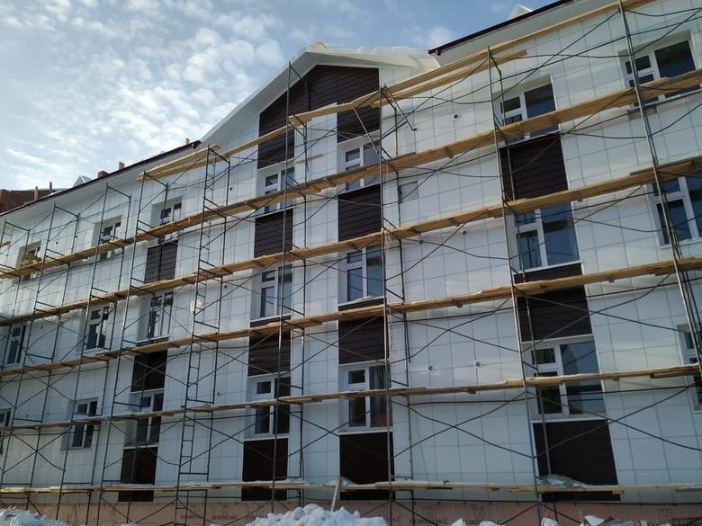 Строительство новых корпусов дома престарелых в Итатке завершится в 2020г
