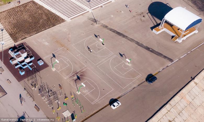 Площадка для стритбола появилась в Лагерном саду