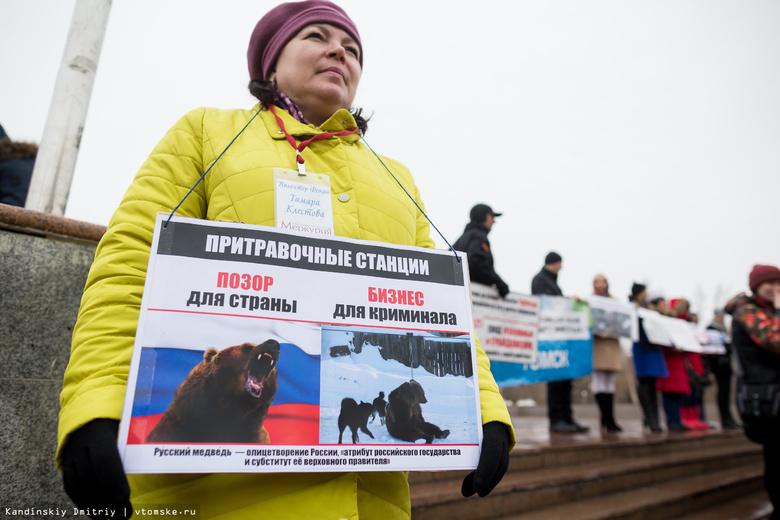 Томичи вышли на улицу с требованием защитить права животных