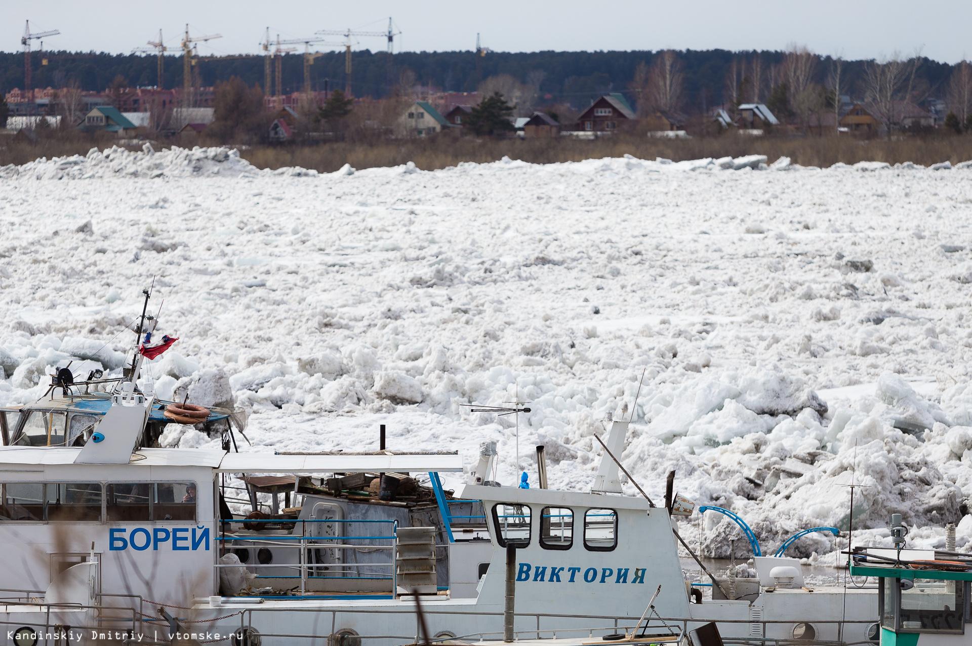 Поплыли: ледоход на Томи проходит в Томске