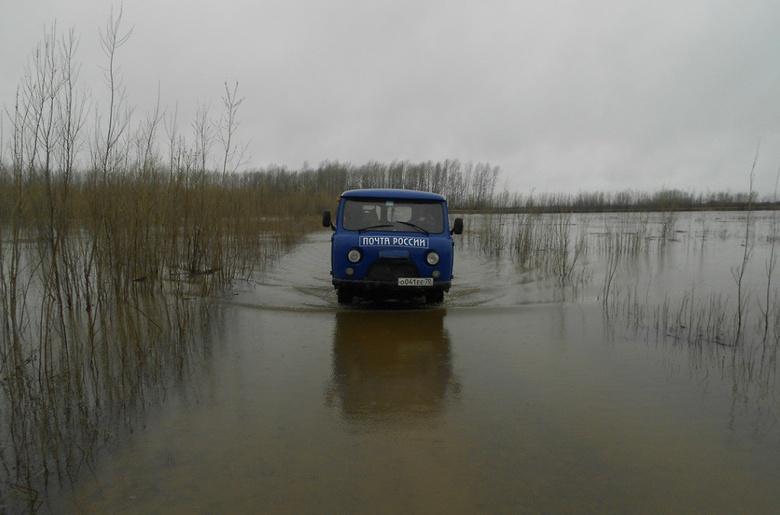 «Почта России» будет доставлять пенсию на вертолетах и вездеходах во время паводка