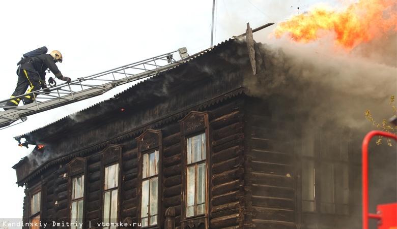 Пожар произошел ночью в историческом доме на Нечевском в Томске. Пострадал мальчик