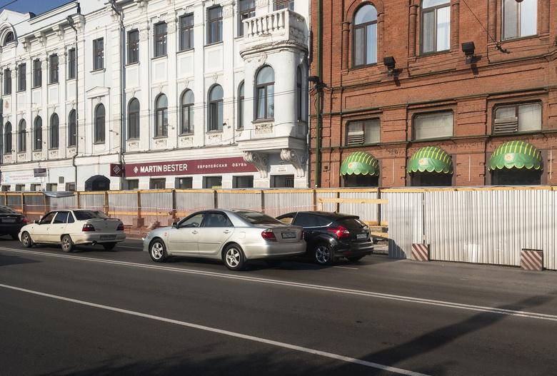 Ремонт тротуара на проспекте Ленина в Томске завершится в ноябре