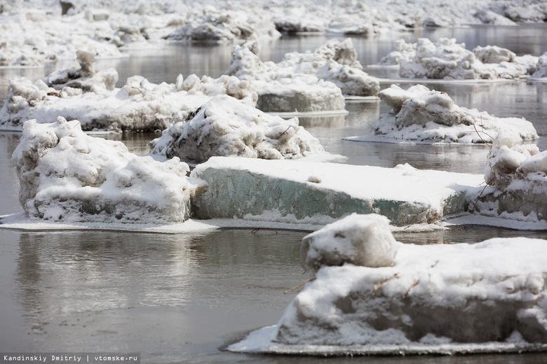 МЧС: движение ледохода на Томи возобновилось