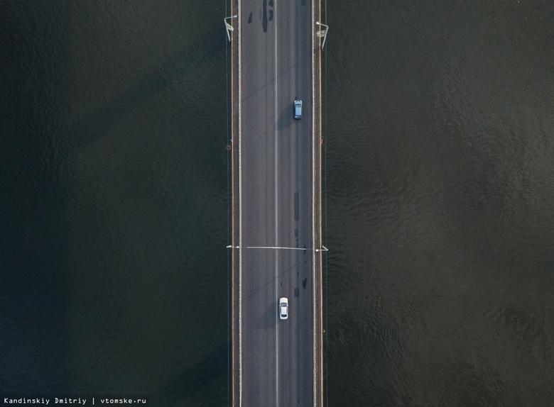 Деформационный шов поврежден на Коммунальном мосту Томска