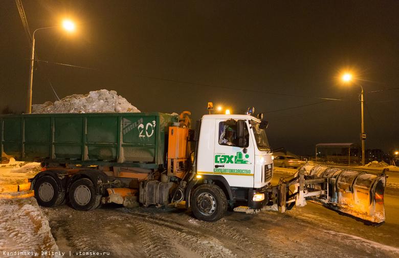 САХ в среду уберет снег с 5 улиц Томска и в деревне Эушта
