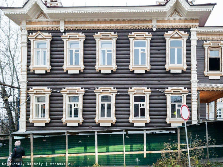 Частная компания восстановит лестницу возле исторического дома в центре Томска