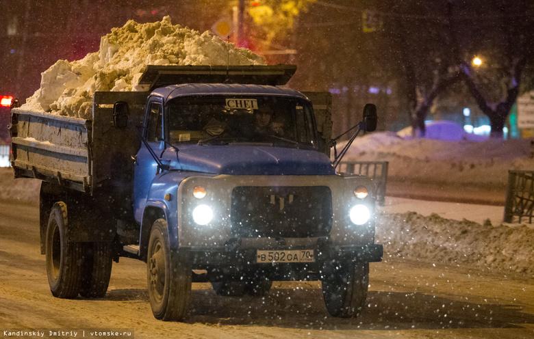 Активная уборка снега ночью пройдет в Ленинском районе Томска