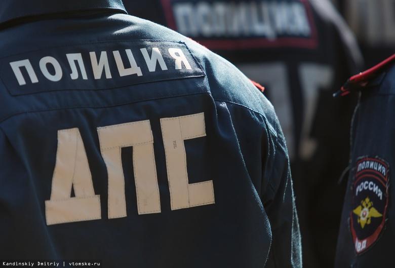 Автомобиль Subaru перевернулся на крышу в центре Томска, водитель скрылся