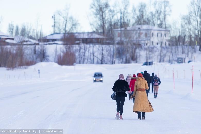 Транспортную нагрузку 14 ледовых переправ увеличили в Томской области