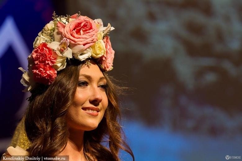 Яна Данькова на конкурсе «Мисс Томск-2013»