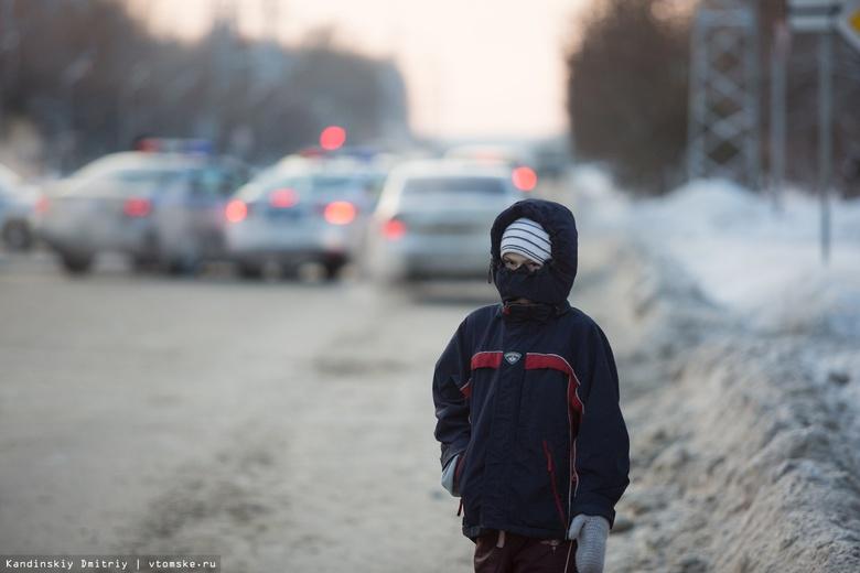 Четверо детей в Томской области пострадали из-за морозов