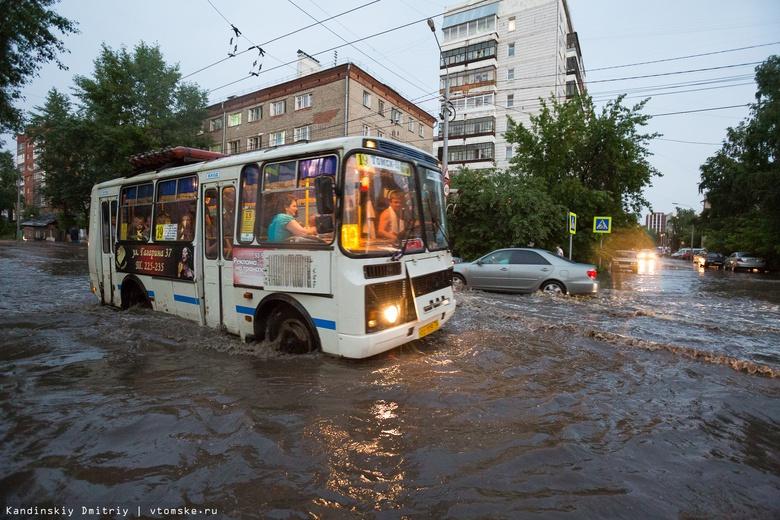 В ТГАСУ рассказали, почему улицы Томска топит во время дождей
