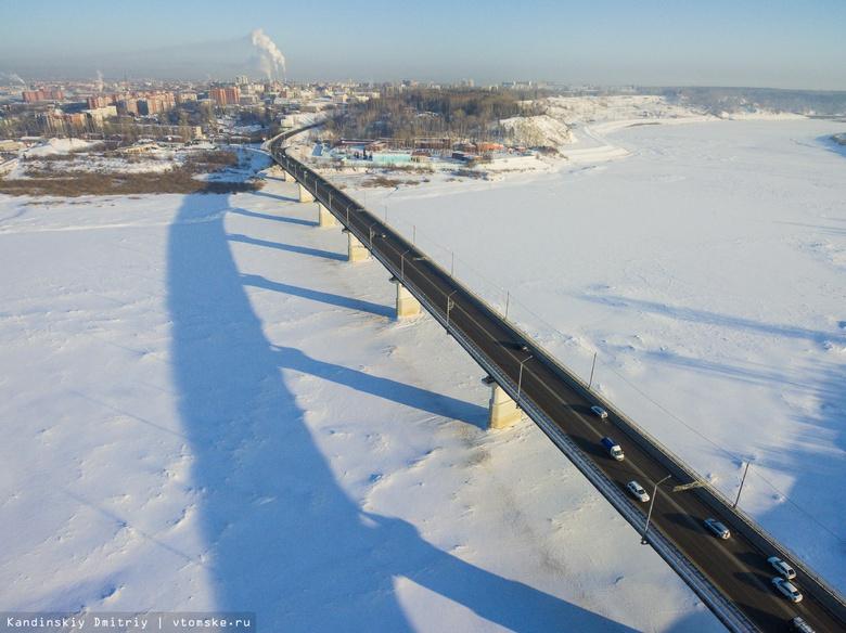 На Коммунальном мосту устранили повреждение при въезде в Томск