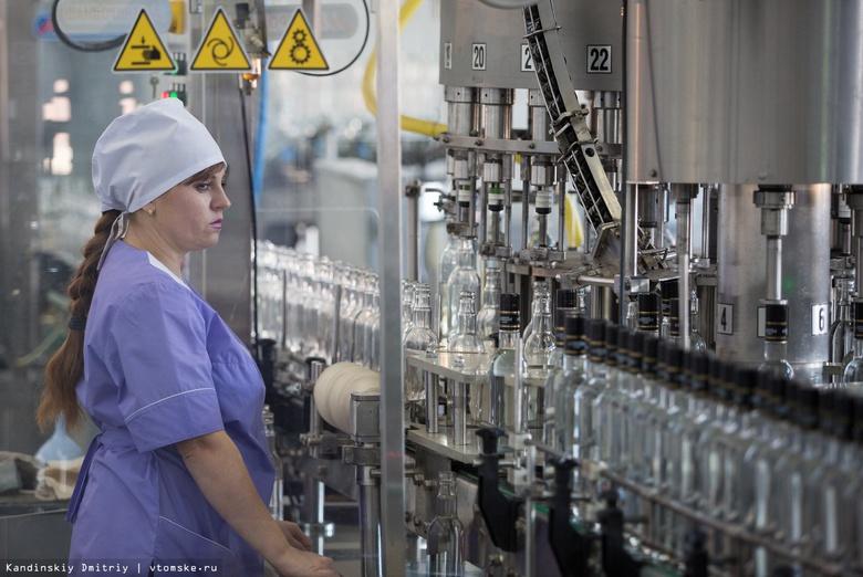 Томский завод в 5 раз увеличил производство водки