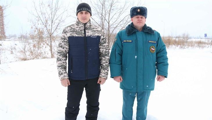 Два северчанина спасли пенсионерку, провалившуюся под лед во время рыбалки