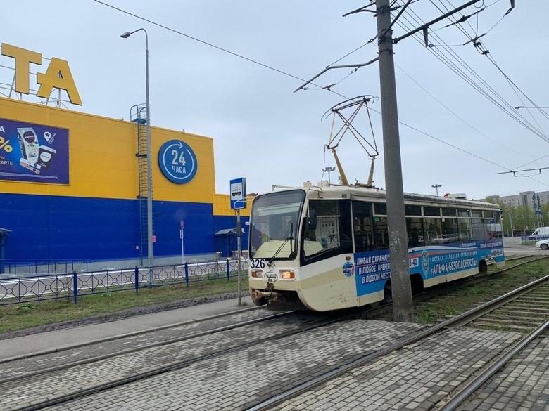 Трамвайная остановка у «Ленты» на Елизаровых заработала спустя 3 года